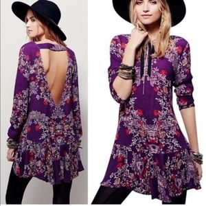 Free People Smooth Talker Floral Mini Tunic L